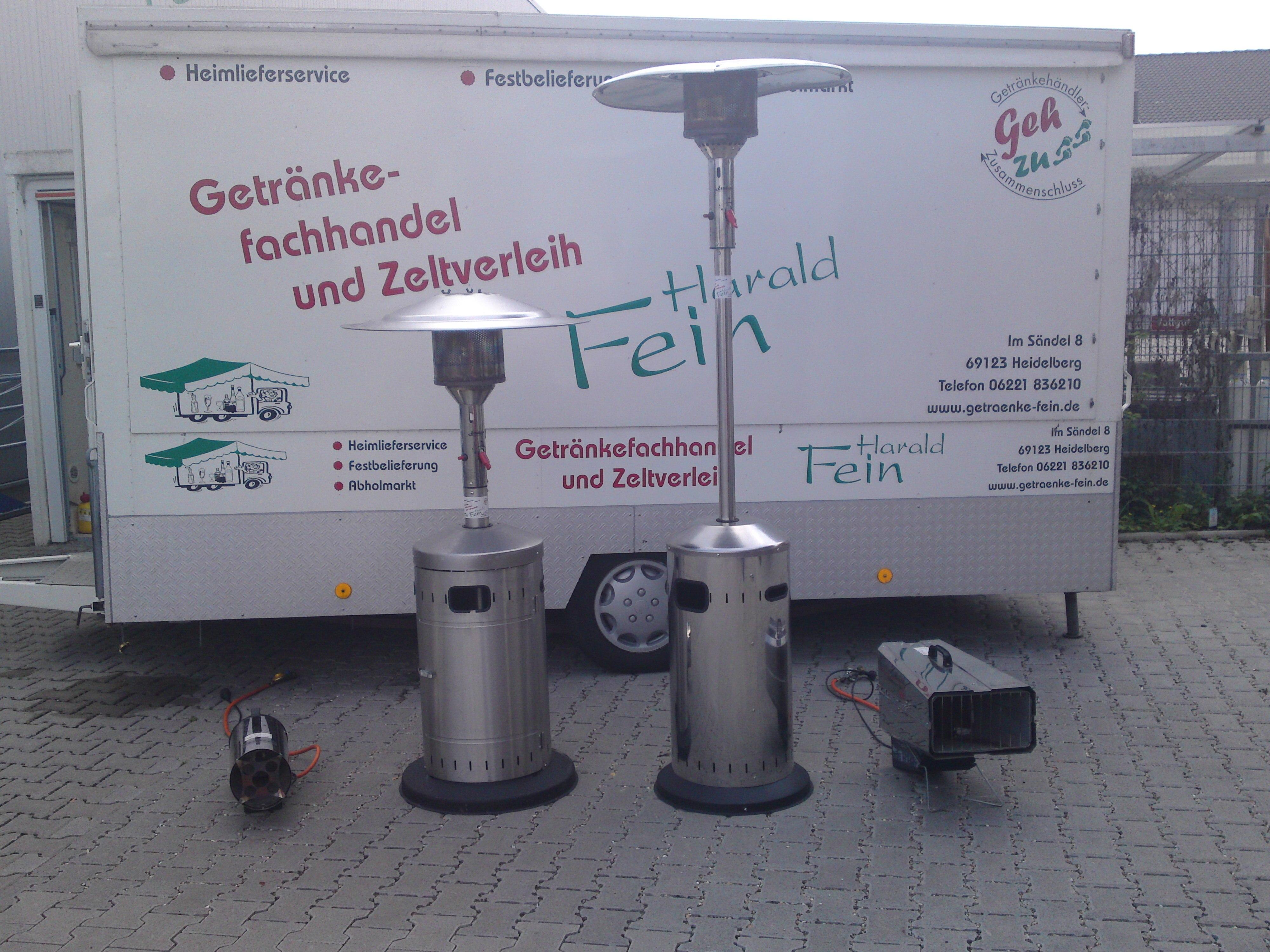 Inventar - Getränkefachhandel und Zeltverleih Harald Fein